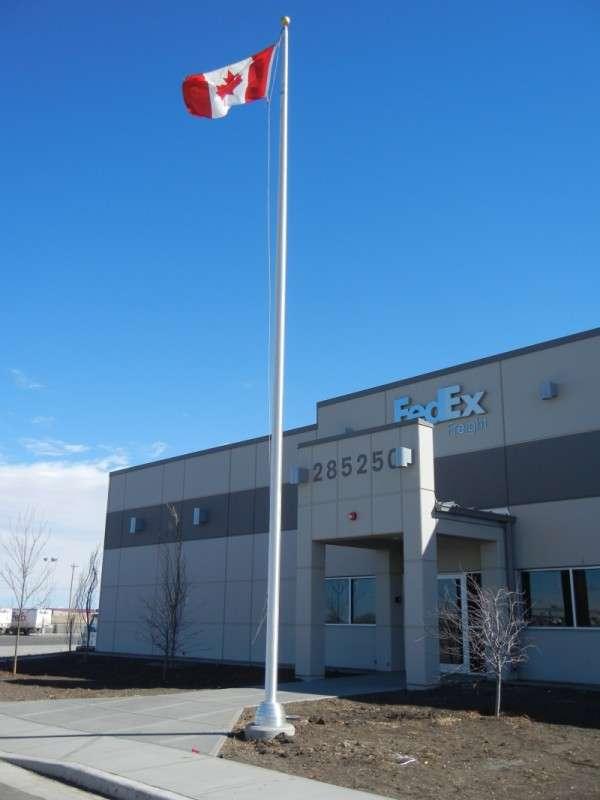 Industrial Aluminum flagpole