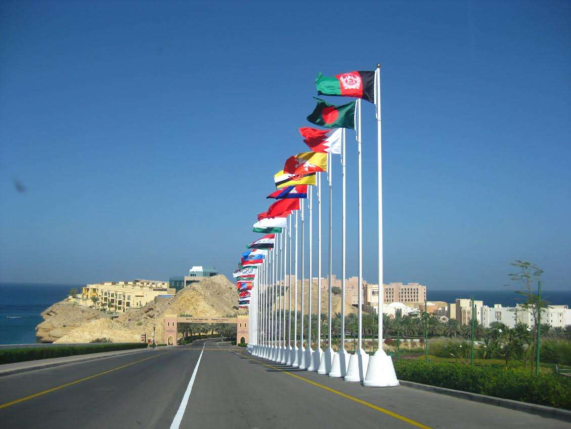 Commercial fiberglass flagpoles with fibercrete base