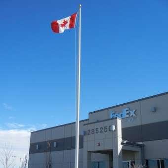 Commercial Aluminum flagpoles