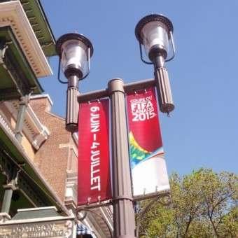 Street Pole Banners, displays, banner printing and custom flag maker