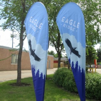 Fort McMurray Tear Drop Banners