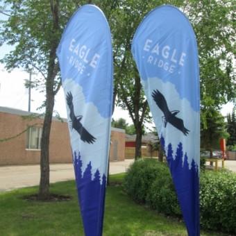 Red Deer Tear Drop Banners