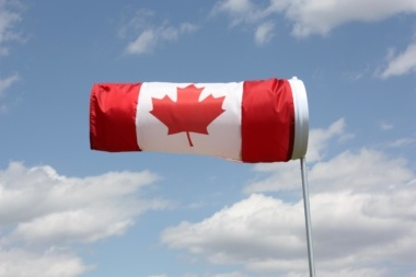 Canada flag advertiser windsock