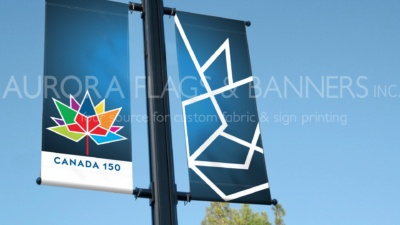 Canada 150 Street Pole Banners