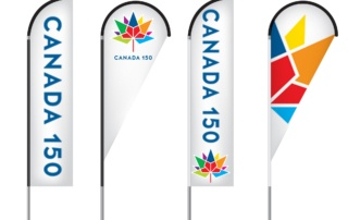 Canada 150 Feather Flag