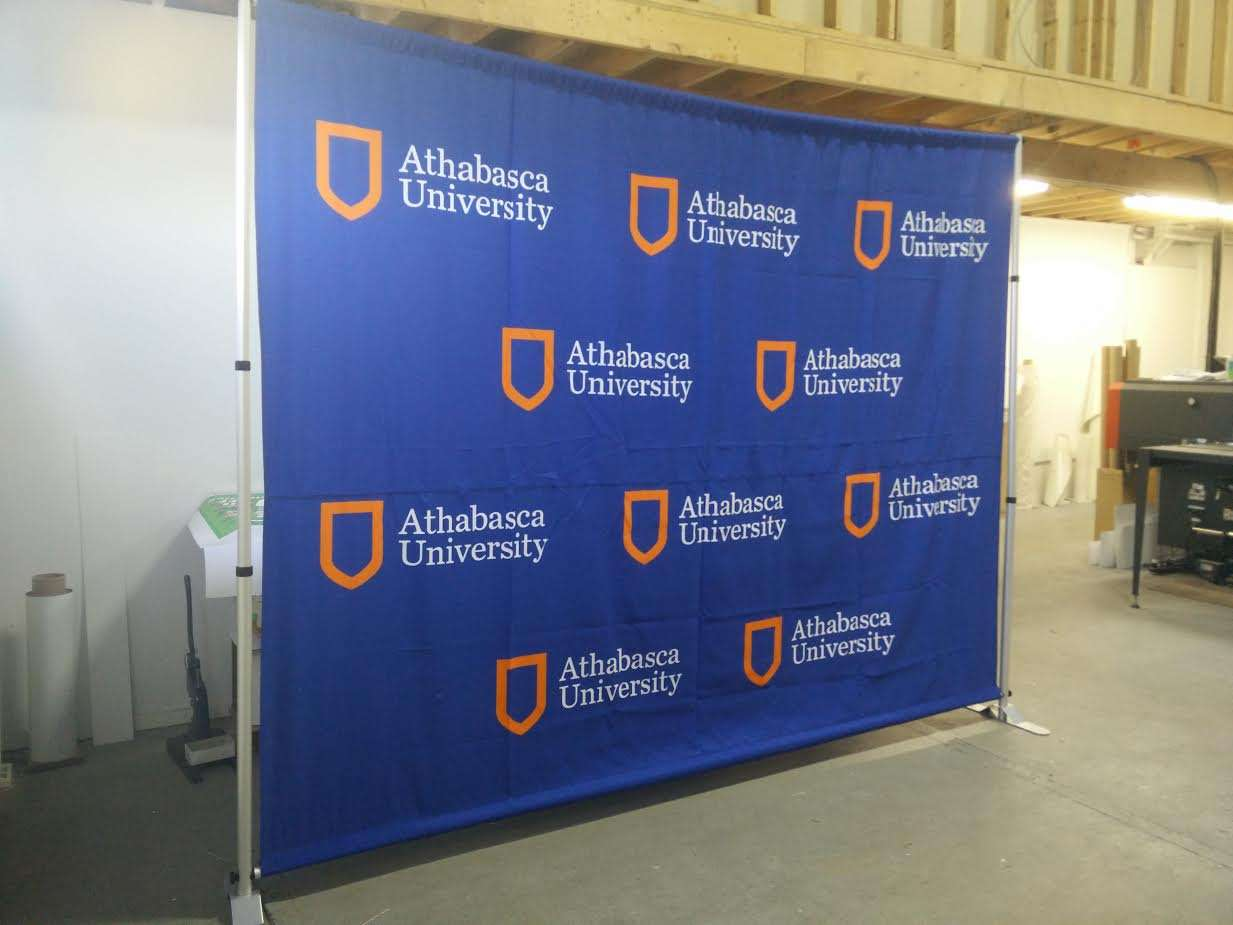 Trade Show Booth Edmonton : Step and repeat displays custom fabric event and red carpet displays