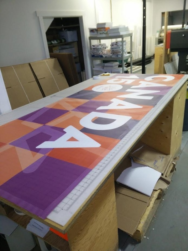 Printing Canada 150 Fence Banners