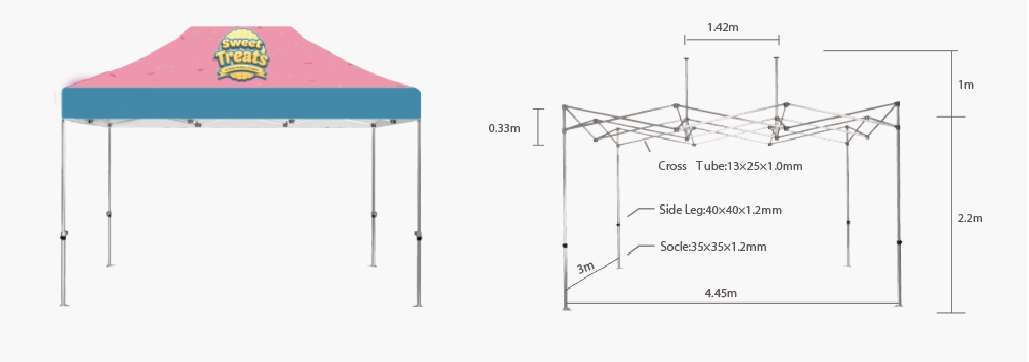 Canopy Tent Hardware 10'x15'