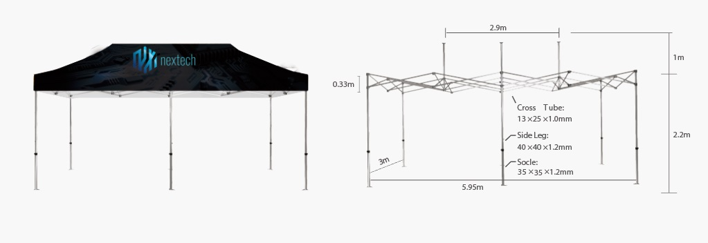 Canopy Tent Hardware 10'x20'