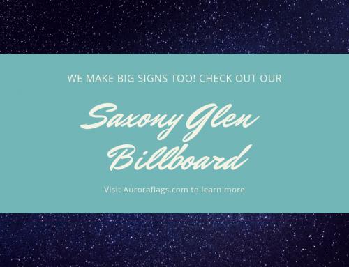 Case Study: Saxony Glen Showhome Sign